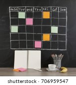 grid timetable schedule with... | Shutterstock . vector #706959547