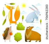 wild baby animals clip art... | Shutterstock . vector #706962283