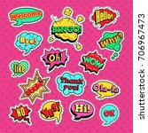 comic speech bubbles set for... | Shutterstock .eps vector #706967473