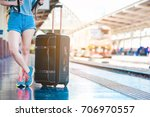 teen asian girl waiting for... | Shutterstock . vector #706970557
