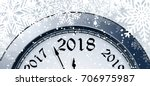 new year's eve 2018 | Shutterstock .eps vector #706975987