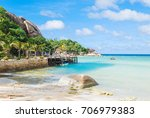 beautiful seascape in summer... | Shutterstock . vector #706979383