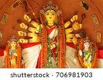 happy durga puja goddess of...   Shutterstock . vector #706981903