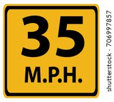 us road warning sign  advised... | Shutterstock .eps vector #706997857