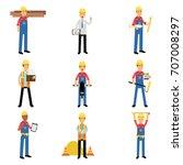 construction engineering... | Shutterstock .eps vector #707008297
