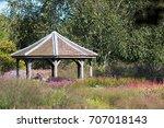 decorative tiled gazebo... | Shutterstock . vector #707018143