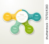 vector infographic template for ... | Shutterstock .eps vector #707019283