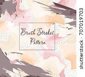 brush stroke pattern | Shutterstock .eps vector #707019703