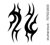 tribal tattoo art designs.... | Shutterstock .eps vector #707021833