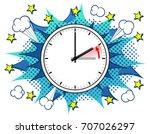 vector illustration of a clock... | Shutterstock .eps vector #707026297