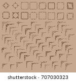 big set. vector frame and... | Shutterstock .eps vector #707030323