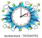 illustration of a clock return... | Shutterstock . vector #707034793