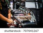 professional coffee hot machine ...   Shutterstock . vector #707041267