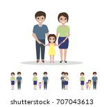 different types of families.... | Shutterstock .eps vector #707043613