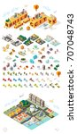 build your own city. set of... | Shutterstock .eps vector #707048743