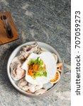 haute cuisine  gourmet seafood... | Shutterstock . vector #707059273