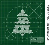 vector christmas icon. new year ... | Shutterstock .eps vector #707061667