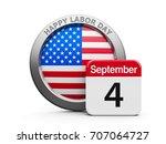 emblem of usa with calendar... | Shutterstock . vector #707064727
