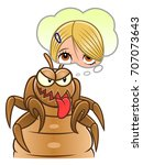 louse thinking about head and... | Shutterstock .eps vector #707073643