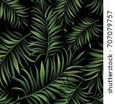 seamless tropical vector... | Shutterstock .eps vector #707079757