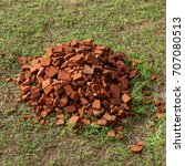 pile of old red bricks on the... | Shutterstock . vector #707080513