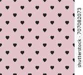 hearts pattern flat... | Shutterstock .eps vector #707082073