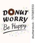 donut vector card on a light... | Shutterstock .eps vector #707085553