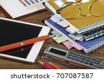business accounting  | Shutterstock . vector #707087587