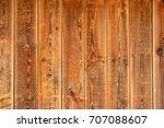 wooden background. brown boards ... | Shutterstock . vector #707088607