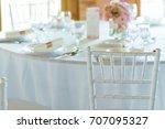 detail of white chair  fancy... | Shutterstock . vector #707095327