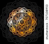decorative pattern mandala.... | Shutterstock .eps vector #707108953