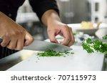 chef preparing food   Shutterstock . vector #707115973