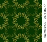seamless pattern with baroque... | Shutterstock . vector #707118277