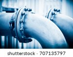 water pipeline in water... | Shutterstock . vector #707135797