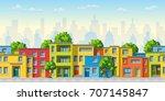 illustration of colorful modern ... | Shutterstock .eps vector #707145847