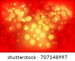 abstract gold bokeh light on... | Shutterstock .eps vector #707148997