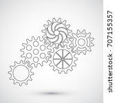 gears on white background....   Shutterstock .eps vector #707155357