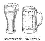 beer glass  mug  for... | Shutterstock .eps vector #707159407