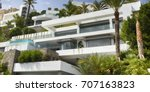 panorama view. holiday villa.... | Shutterstock . vector #707163823