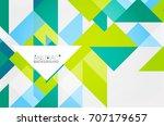 triangle pattern design... | Shutterstock .eps vector #707179657