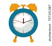 alarm clock in colorful... | Shutterstock .eps vector #707191387
