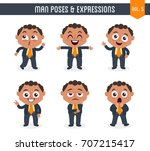 cartoon character of a black... | Shutterstock .eps vector #707215417
