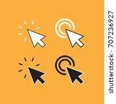 arrow pointers set. clicking... | Shutterstock .eps vector #707236927