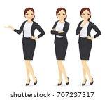 businesswoman   Shutterstock .eps vector #707237317