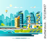 green energy and eco friendly... | Shutterstock .eps vector #707239657