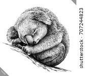 black and white engrave...   Shutterstock .eps vector #707244823