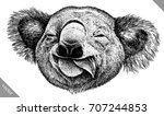 black and white engrave... | Shutterstock .eps vector #707244853
