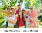 generation and people concept   ... | Shutterstock . vector #707245483