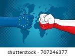 eu versus poland   Shutterstock .eps vector #707246377