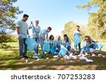 volunteering  charity  people... | Shutterstock . vector #707253283